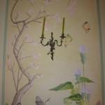 Chinoiserie peinte sur toile